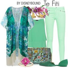 DisneyBound is meant to be inspiration for you to pull together your own outfits which work for your body and wallet whether from your closet or local mall. As to Disney artwork/properties: ©Disney. Disney Dresses, Disney Outfits, Cute Outfits, Disney Clothes, Disney Inspired Fashion, Disney Fashion, Fashion Fashion, Disneybound Outfits, Mint Pants