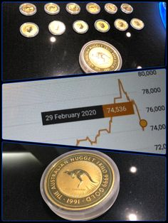 Australian Gold Kangaroo Nugget 1991 1 Kg In 2020 Australian Gold Gold Coins Nugget