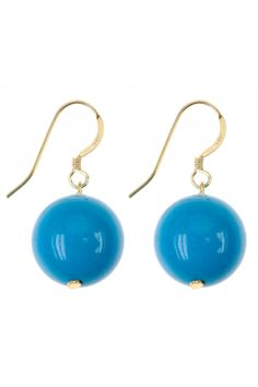 these #gemstone #earrings embody simple style and vibrant color I NEWONE-SHOP.COM