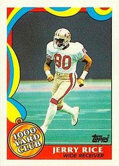 1989 Topps - 1000 Yard Club 5 Jerry Rice San Francisco 49ers Football Card