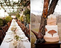 Safari Wedding Theme - Brides fly from across the world to experience it, couples book years in advance to secure it - he enchanting African bushveld!
