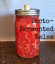 lacto fermented salsa recipe Kombucha Fermentation, Salsa Recipe, Water Bottle, Drinks, Recipes, Drinking, Beverages, Water Bottles