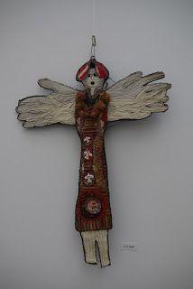 Art Textile, Textiles, Fiber Art, Art Dolls, Dream Catcher, Mixed Media, Creations, Isabelle, Sculpture