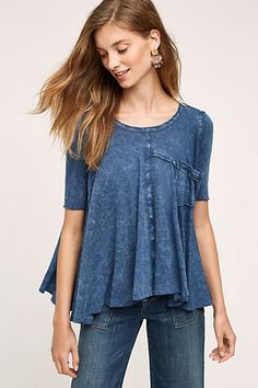 Waterfall Swing Tee #anthropologie (in plummy color)