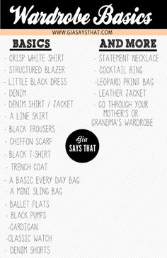 wardrobe basics , fashion , style , must haves , little black dress , wardrobe essentials