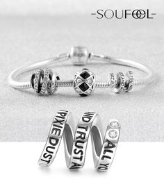 Soufeel All You Need Is Faith, Trust and A Little Bit of Pixie Dust. Charms Bracelet. For Every Memorable Day
