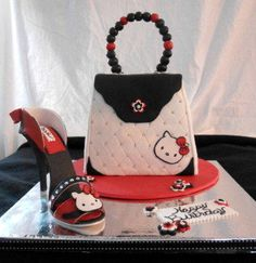 hello kitty purse and shoe - Cake by heather369