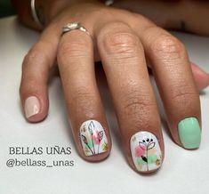 Cute Nails, Pretty Nails, Hair And Nails, My Nails, Nail Decorations, Green Nails, Fabulous Nails, Nail Arts, Nail Inspo