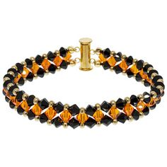 Witches' Walkway Bracelet | Fusion Beads Inspiration Gallery  although this is for Holloween any 2 color combos would work!