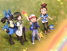 The next movie squad. Very curious to see what it is about. It seems to be about the beginning of his journey but with Pokemon from every gen, even Marshadow. And his two friends have Pokemon from gen 4. Perhaps gen 4 remakes soon!!? Haha we'll see.