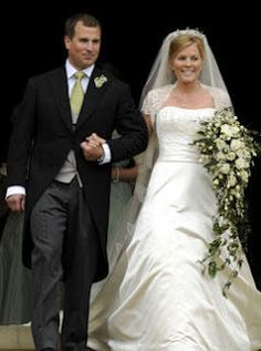 Peter Phillips, son of Princess Anne, and  Autumn Kelly.  They are simply Mr and Mrs. Phillips and have no royal title.