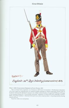 Great Britain: Plate (Cameronians) Regiment of Foot, Private, 1813 Battle Of Waterloo, War Of 1812, Episcopal Church, Napoleonic Wars, British Army, Military History, Great Britain, Soldiers, Empire