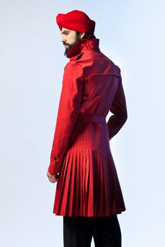 pleated trench -- Jean Paul Gaultier collection Spring 2013 Menswear