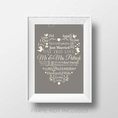 A romantic neoclassical modern print full of love, and meaningful words to mark their special day, are in the centre of the print, with cherubs,