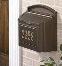 Bronze Mailbox Google Search Rustic Mailbo Home Residential Security