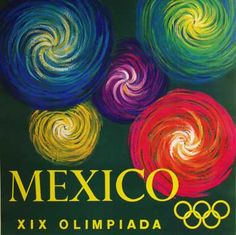 Original Vintage Olympics Poster  Mexico 1968