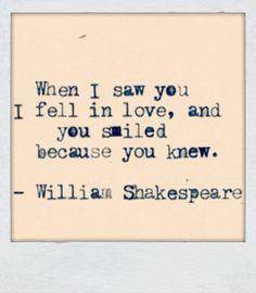 I fell in love..