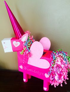 Unicorn Valentine Box. More