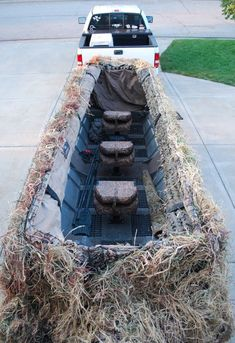 Duck Blind From An Old Pontoon Boat Ideas And Other