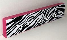 Hot Pink Zebra Printed Key Chain Hooks/Necklace by PhabulousThings, $22.00
