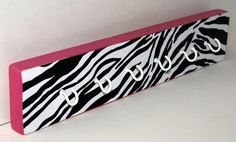 Hot Pink Zebra Printed Key Chain Hooks/Necklace by PhabulousThings, $22.00