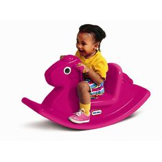 Features:  Country of Manufacture: -United States.  Product Type: -Novelty.  Gender: -Boy/Girl.  -Rocking horse.  -Small size is perfect for small indoor or outdoor play areas.  -Seat is designed to k