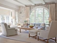 Astonishing Living Room With Stone Wall Design Ideas 34