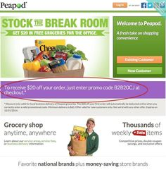 Peapod Promo Codes & Coupon Codes – Why trek up to a food store, invest hours navigating complicated aisles, soil both hands compressing fresh fruits and looking at expiry times when you …