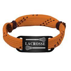 Lacrosse Shooting String Bracelet Lacrosse with 2 Sticks Adjustable Shooter Bracelet - Orange