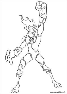 Ben 10 Printable Drawing For Children Online Coloring Book 50
