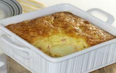 Σουφλέ πατάτας με τυριά και αλλαντικά