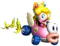 Character I dislike - Baby Peach (Mario Kart Wii) Peach Mario Kart, Mario Kart 8, Mario Bros., Mario And Luigi, Vinyl Wall Stickers, Wall Decals, Lusamine Pokemon, Princesa Daisy, Realistic Mermaid Tails
