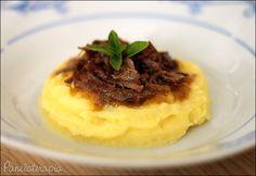 PANELATERAPIA - Blog de Culinária, Gastronomia e Receitas: Purê de Mandioquinha com Ragu de Carne de Panela