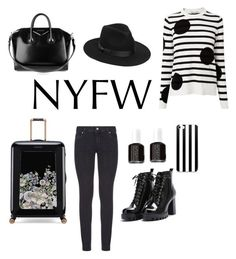 """""""New York Fashion Week"""" by flamingofashion on Polyvore featuring L.K.Bennett, Paige Denim, Givenchy, Lack of Color, Ted Baker and Essie"""