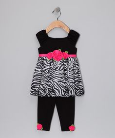 Take a look at this Black & White Zebra Top & Leggings - Infant by Sweet Heart Rose & Bloome on today! White Zebra, Tops For Leggings, Zebra Print, That Look, Kids Outfits, Infant, Black And White, Heart, Rose