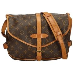 86cf47abe Louis Vuitton Saumur Monogram 30 Pm Saddle 869401 Brown Canvas Cross Body  Bag