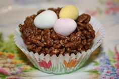 Easter Chocolate Crispy Nests, would be easier to just use cocoa krispies.