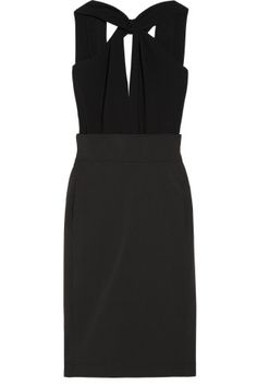 Altuzarra|Vani silk-crepe and twill dress|NET-A-PORTER.COM