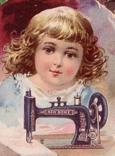SEWING MACHINE Victorian Trade Card