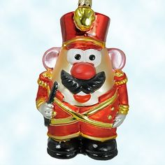 Mr. Potato Head Toy Soldier, Radko Ornaments, 1998, 99-POT-02, Toy Story, red, Christmas, Mint with Tag, Box