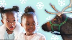 Kids Meet Reindeer For The First Time awe, this is super cute