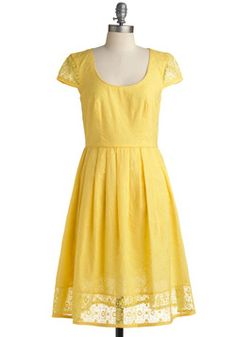 yellow dress with sleeves. coulda worn this baby in college. #dresscode