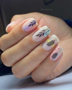 Manicure Nail Designs, Nail Manicure, Cute Gel Nails, Pretty Nails, Pink Nail Art, Pink Nails, Jolie Nail Art, Abstract Nail Art, Nail Time