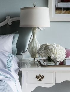 What a pretty bedside set up