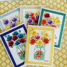 Yes, I am addicted to ! Couldn't stop making these cards. Love this set! Love Cards, Thank You Cards, Mason Jar Cards, Love Stamps, Stamping Up, Creative Cards, Greeting Cards Handmade, Stampin Up Cards, Card Ideas
