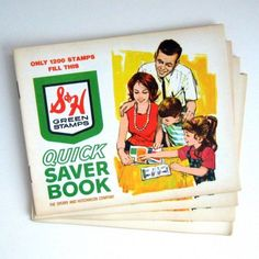 S & H Green Stamp Books.  ONLY 1200 stamps fill this book?  ...