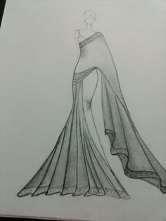 Fashion illustration vogue paintings Ideas for 2019 Dress Design Drawing, Dress Design Sketches, Fashion Design Sketchbook, Fashion Design Drawings, Dress Drawing, Fashion Sketches, Fashion Figure Drawing, Fashion Drawing Dresses, Dress Illustration