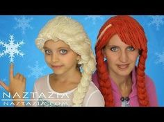 DIY Tutorial Yarn Wig Hair - Disney Frozen Elsa Anna Inspired Braid Wigs Children Kids Adults Braids - YouTube
