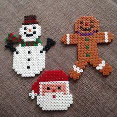 Christmas decorations hama beads by octopusgirl13