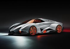 Lambo From The Future Lamborghini via designboom Lamborghini recently turned 50, so to celebrate, the car company created this: the Lamborghini Egoista, which looks a lot like the Batmobile from The Dark Knight. Its got 600 horsepower under the hood and was inspired by the Apache Helicopter.